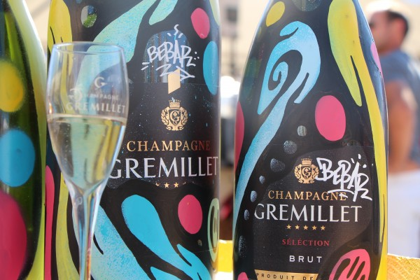 Bouteille custom by Bebar Champagne Gremillet