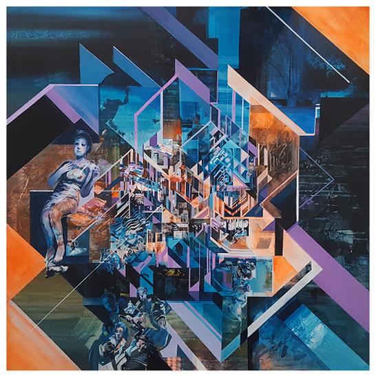 Cell - acrylique sur toile