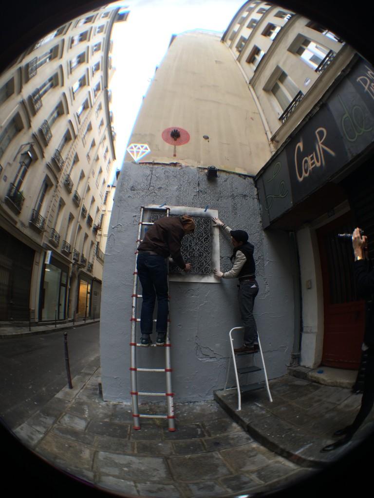 Début de la fresque rue Chapon © Marie-Ange Baudin