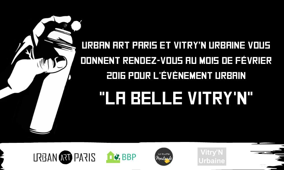 Urban Art Paris et Vitry'N'Urbaine vous donnent rendez-vous!
