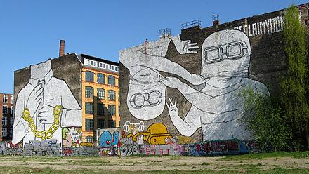 Die beiden Cuvry-Graffiti 2009