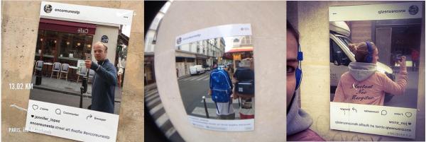 Compilation de selfies reçus. © compte instagram Encoreunestp