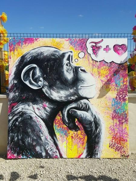 Le singe qui pense de Mr.Oizif