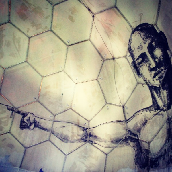 Détail de l'immense fresque à 360 degrés par ALANIZ (insta @alanizart)