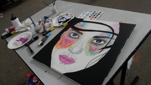 Miskar aquarelle en live