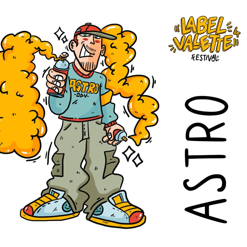 Astro par Bouda pour le LaBel Valette Festival